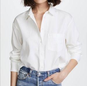 Madewell White Button Drapey Oversized Boyshirt